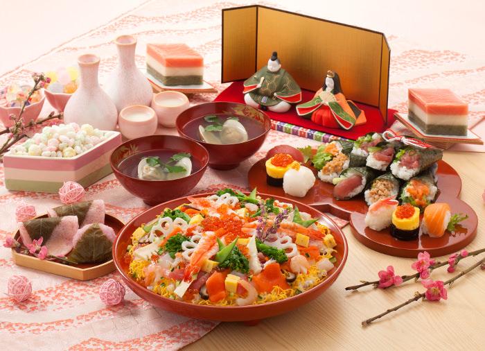 ひなまつりにいただく祝い膳といえば、ちらし寿司やハマグリのお吸い物、白酒が定番
