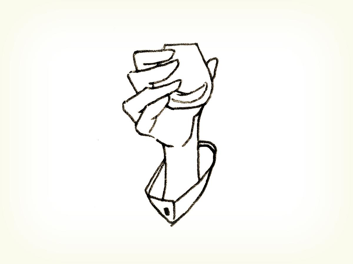 オリーブオイルのテイスティング説明イラスト。オリーブオイルを深さ5mm程度の量カップに注ぐ