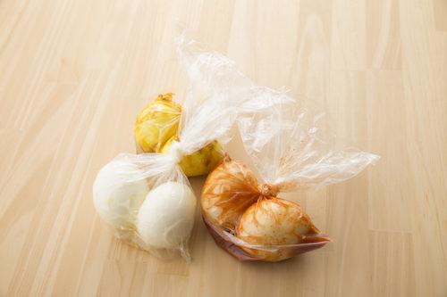 ビニール袋で作る味付け卵の画像