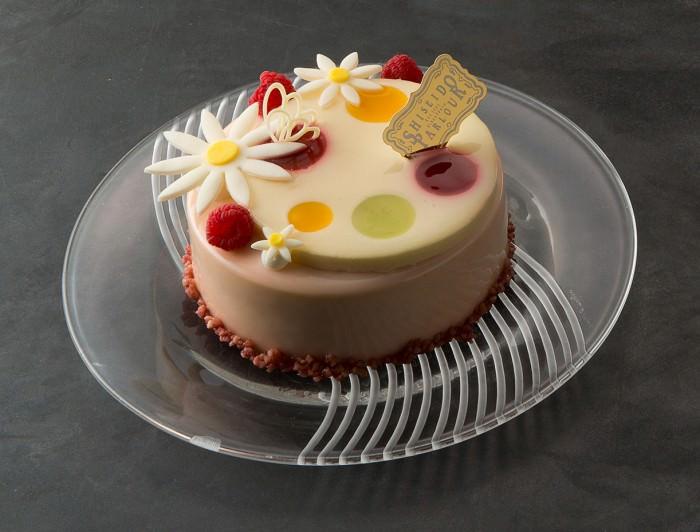 <資生堂パーラー>ガトー プランタニエはエルダーフラワー風味のクリームを使った可憐なケーキ