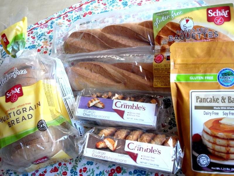 グルテンフリーのパンやクッキーの画像