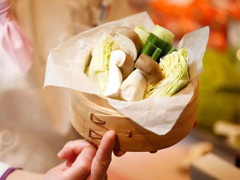 春野菜のセイロ蒸し