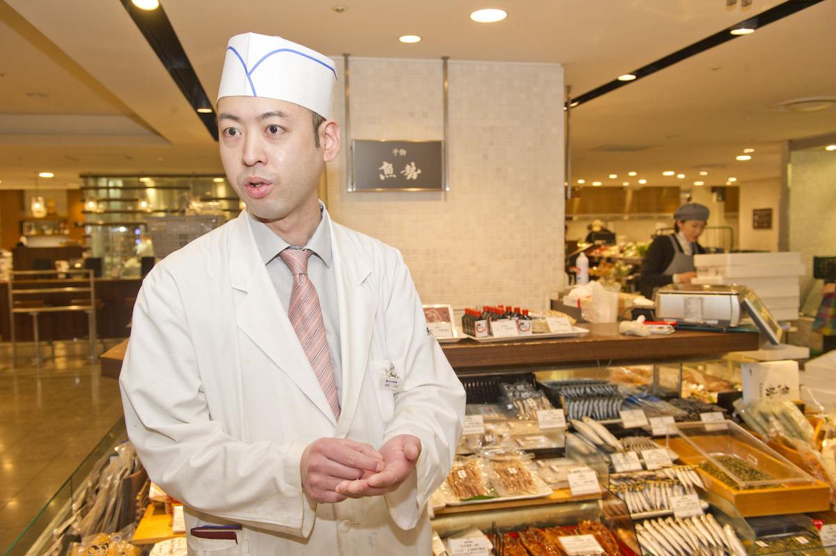 干物に詳しい、伊勢丹新宿店の<魚勢>の細沼太一郎さんの画像