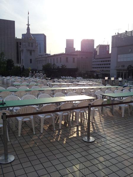 日本橋三越本店本館屋上、ビアガーデン「日本橋」の画像