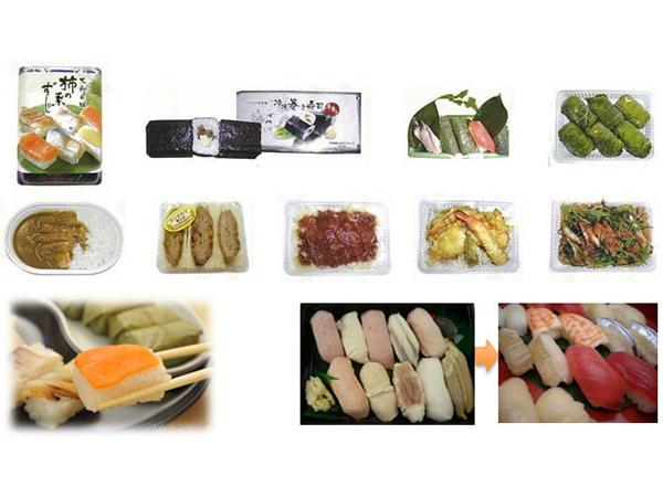 生ものだけでなく、揚げ物なども凍結可能、プロトン凍結できる食材の画像