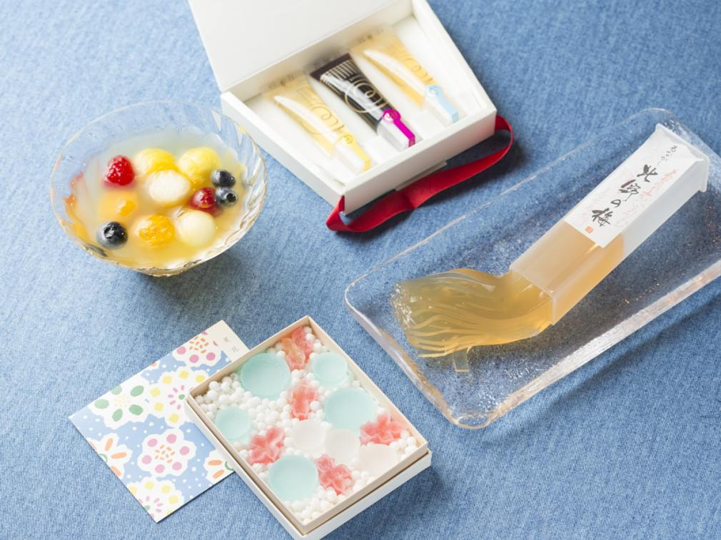 シャリシャリ、プルプルなど食感別の和菓子のイメージ