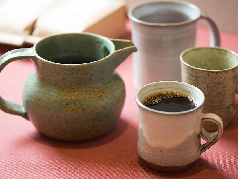 コーヒーとコーヒーカップ、マグカップ