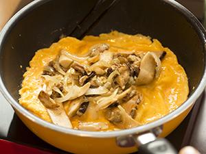 生ポルチーニ茸のオムレツ作り方