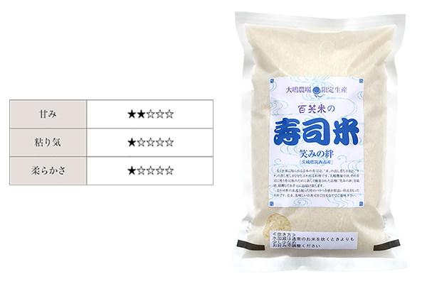 茨城県産の米、「笑みの絆」