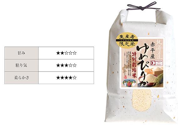 北海道産の米、「ゆめぴりか」