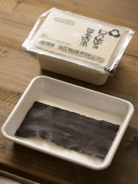 三之助の只管豆腐を使った湯豆腐の材料