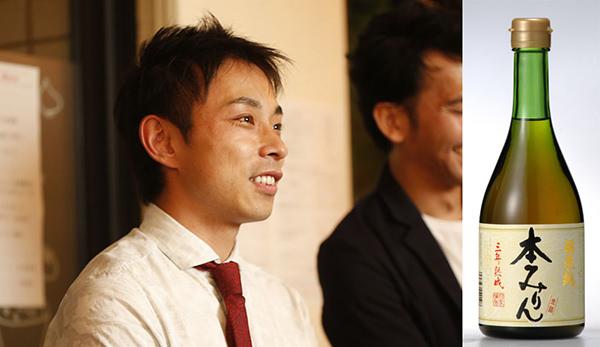 左:HANDREDのメンバー 白扇酒造 右:江戸時代から変わらない製法でつくられる、福来純三年熟成本みりん