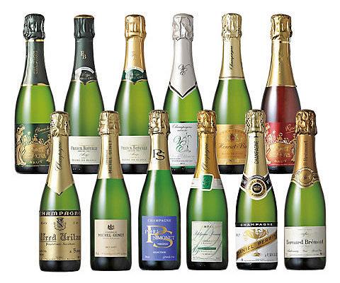 小規模生産者シャンパーニュ ハーフボトル飲みくらべ12本セット