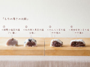 定番だからこそ個性が際立つ!人気の「豆大福」4品を食べ比べ