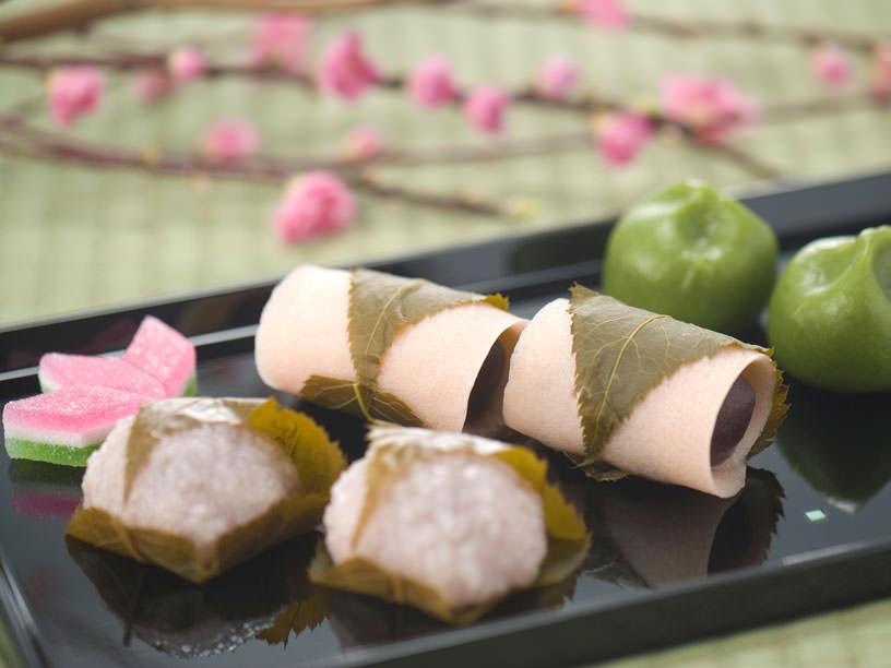 道明寺と長命寺の桜餅
