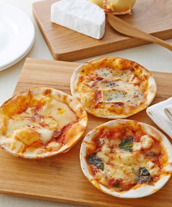 手づくりチーズとピザセット