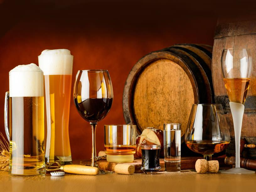 いろいろな種類のお酒