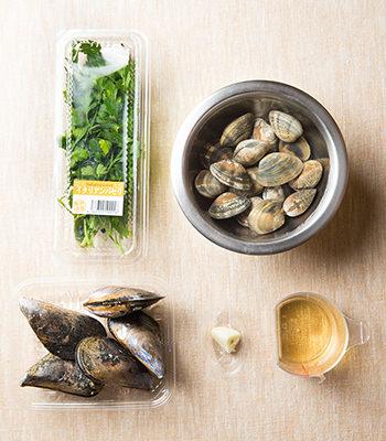 ムール貝の白ワイン蒸しの材料