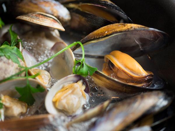 ムール貝の白ワイン蒸し、完成