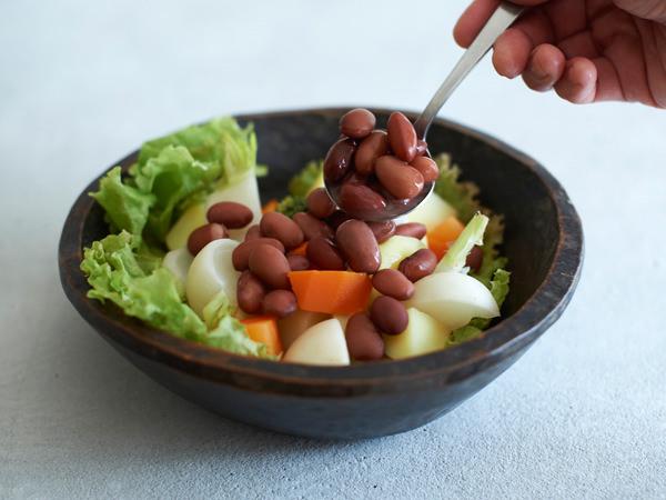 豆の使い方アイディア、サラダに入れる