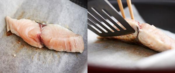フライパンで作る焼き魚のレシピ、身の縁が白くなってきたら返しどき