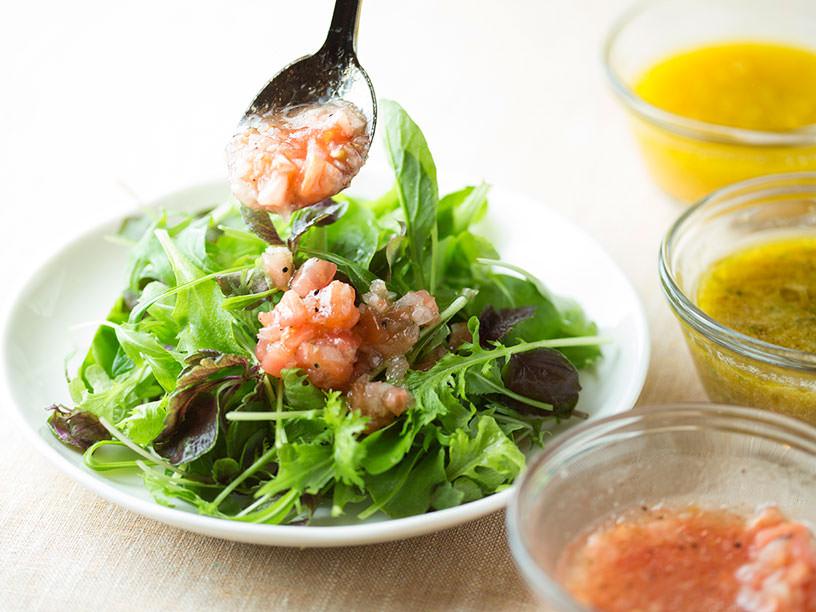 ワンボウルで混ぜて「1食分」が完成! 食べきりドレッシングレシピ