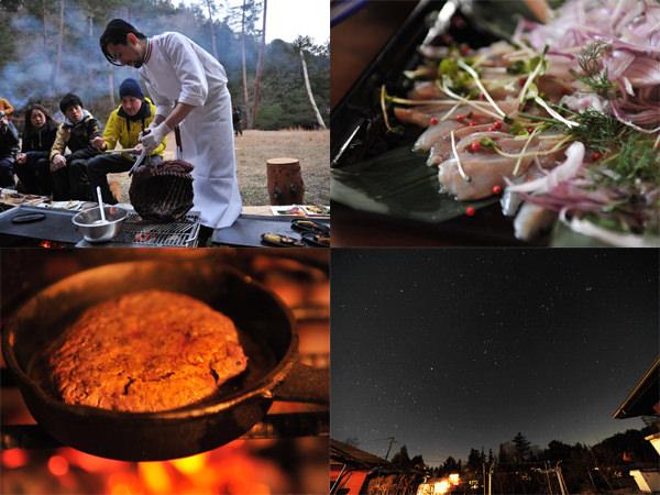 SOTONOMOのイベント風景と料理
