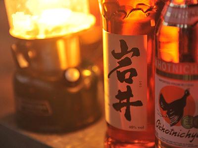SOTONOMOのイベント風景、南信州醸造の酒