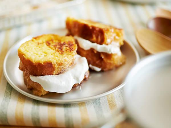 フレンチトーストのマシュマロサンド
