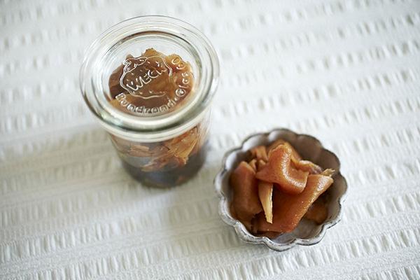 バルサミコ酢で作った甘酢漬け