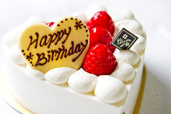クローバーのハートのショートケーキ