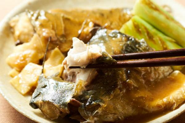 完成した鯖の味噌煮の画像