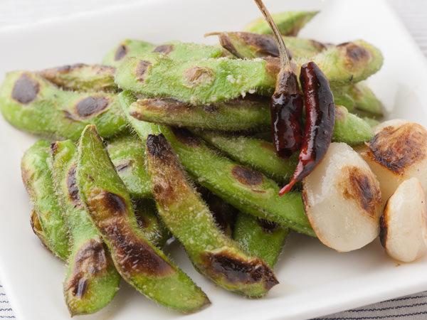 焼き枝豆のペペロンチーノ風の完成イメージ
