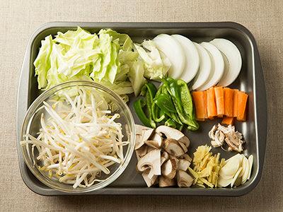 野菜炒めの材料