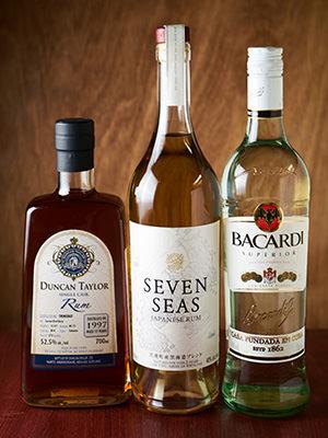 ラムの3銘柄の瓶