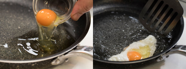 揚げ卵をつくる