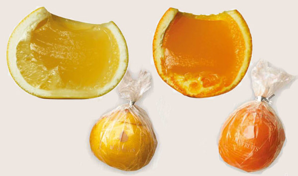 サン・フルーツのフレッシュゼリー(グレープフルーツ、オレンジ)