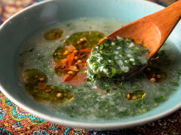 モロヘイヤのスープ完成