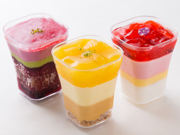 大豆粉を使った新作デザート「ベリーヌ」シリーズ3種