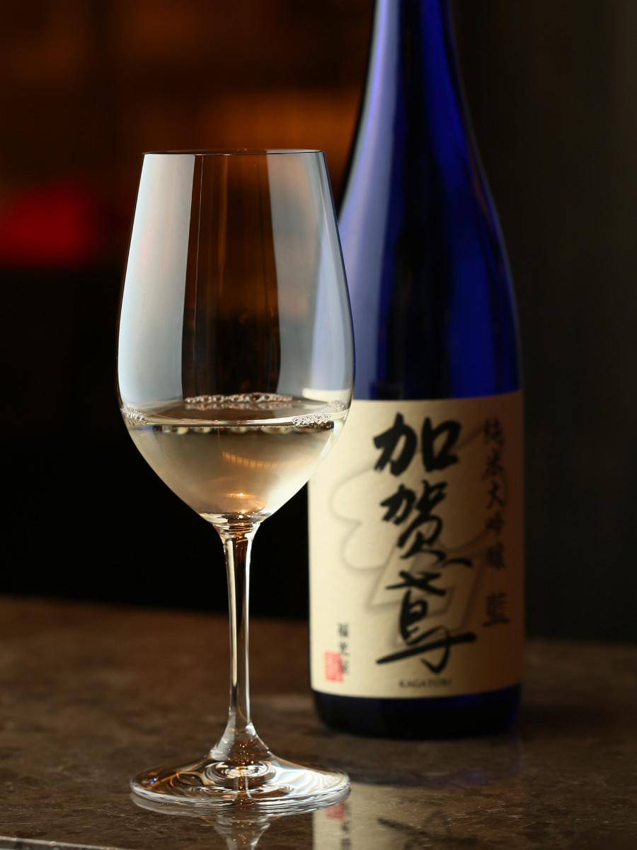 リーデルの大吟醸グラスヴィノムと純米大吟醸『加賀鳶』