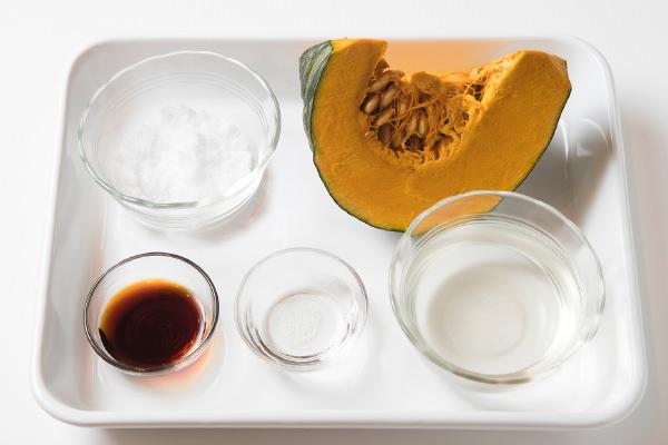 かぼちゃの煮ものの材料