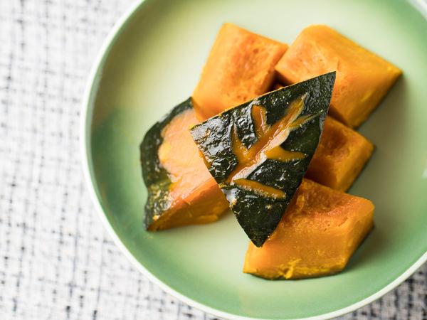 かぼちゃの煮物のでき上がり