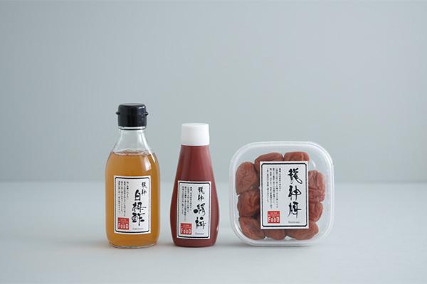 ISETAN MITSUKOSHI THE FOODの龍神梅 梅干し(しそ入)、龍神 絹梅 チューブ入、龍神 白梅酢