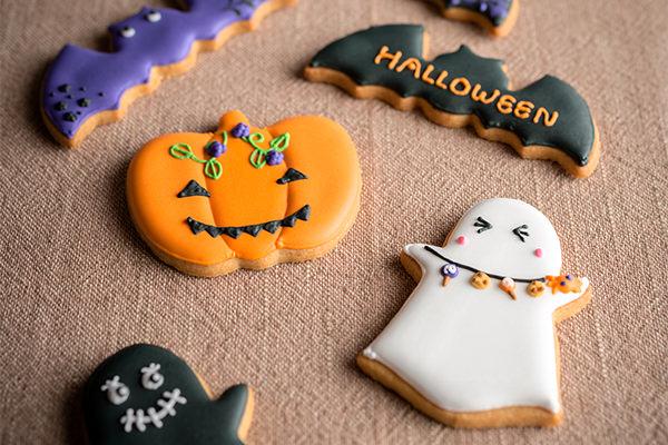 ハロウィンのアイシングクッキーのイメージ