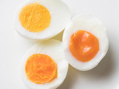 「とろとろ卵」「半熟卵」「かたゆで卵」のゆで卵