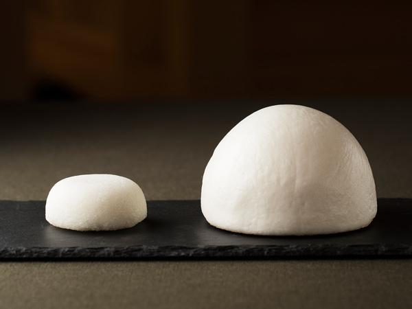 蓬が嶋と一般的なまんじゅうを比較