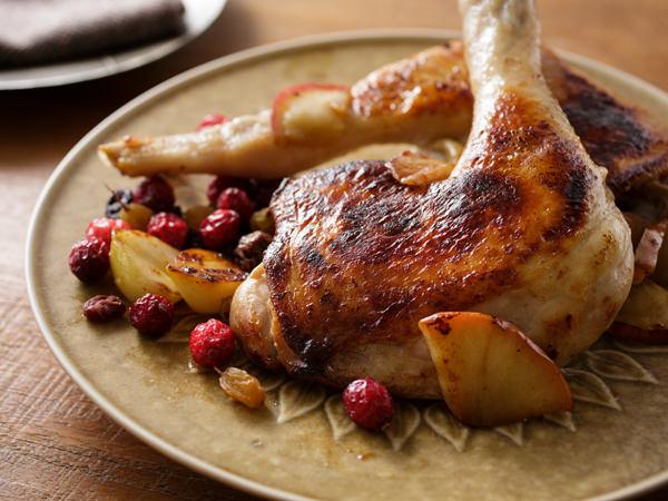 骨付き鶏もも肉のフライパンソテーのでき上がり