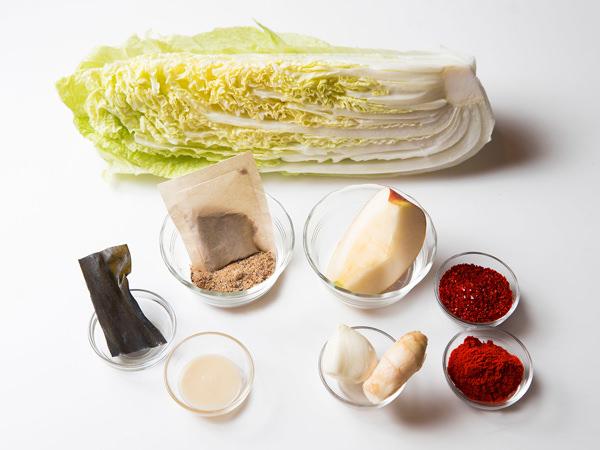 白菜キムチの材料