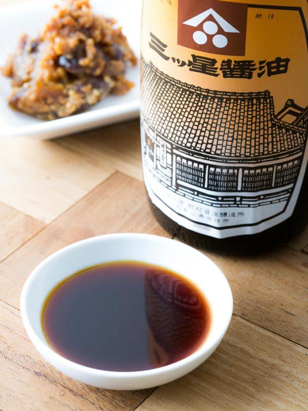 堀河屋野村の醤油、徑山寺味噌