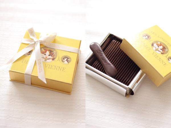 デメルのソリッドチョコ 猫ラベルスウィート